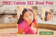 Free 5x7 Wood Print - Limited Availability!