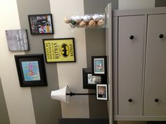 Boys room. Wall art. Pic collage. Stripped wall. Baseballs. Etsy. Sweet lolo designs