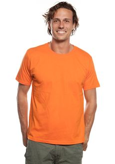 MENS CLASSIC ORGANIC T-SHIRT EP01_ORANGE  Stock Up On This Classic Crew-Neck Men's Organic T-Shirt For A Continuously Crisp, Clean Look.