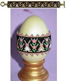 Rose of Sharon Bunnies Egg Wrap or Bracelet