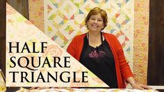 Half Square Triangle Quilt Using the the Four Seasons Block