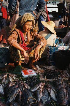 fish at the market, Inle Lake, Myanmar