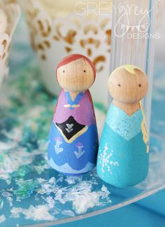 Disney Frozen Birthday Party Ideas | Photo 22 of 58 | Catch My Party   So cute! Working on ones like these myself.