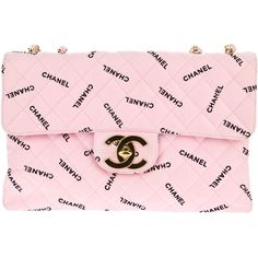 CHANEL VINTAGE quilted logo bag ($6,050) ❤ liked on Polyvore