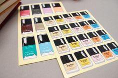 12 of Chanel/Butter nail polish sticker set!!