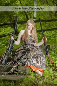 Now & Then Photography | Balsam Lake, WI | Posts | Senior Pictures | Girls | Poses | Ideas | Hunting | Camo | Prom Dress |