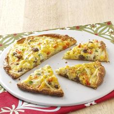Breakfast Pizza for Two Recipe from Taste of Home -- shared by Loretta Kenna of St. Elizabeth, Missouri
