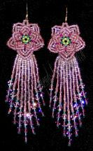 Peony Earrings--LEFTY Version by Charlotte Holley - Beaded Legends by Chalaedra at Bead-Patterns.com