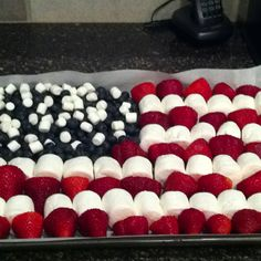 Patriotic fruit platter