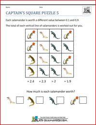 Captain's Square Puzzle 5, math puzzles fifth grade