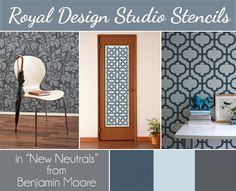 Stencils Look Fresh Painted in Benjamin Moore's New Neutral Collection | Royal Design Studio
