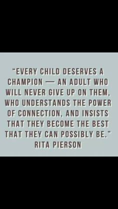 Be that champion!