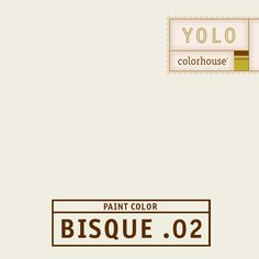 """YOLO Colorhouse BISQUE .02 - The look of wax paper. Perfect for both ceilings and walls where you want the """"cool"""" of white without feeling cold."""