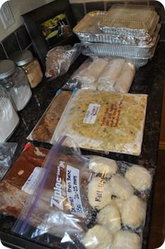 Poppy seed chicken, Cowboy Chili, Chicken Roll-Ups, Chicken Enchiladas, White Chicken Chili, Oven-Baked Chicken Chimichangas,  Pulled Pork, Taco Soup, Chicken Broccoli - Freezer Meals!