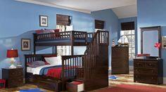 Ogden Twin over Full Stairway Bed