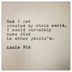 my own world...