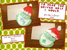 Grinch Writing - To make the grinch smile I would...