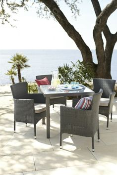 Enjoy outdoor meals season after season with this patio dining set.