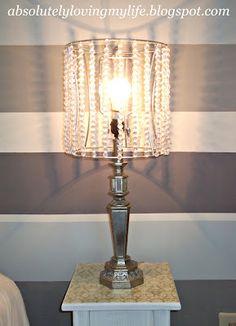 DIY beaded lamp shades