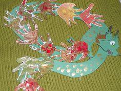 Handprint Dragon ~ Chinese New YEar