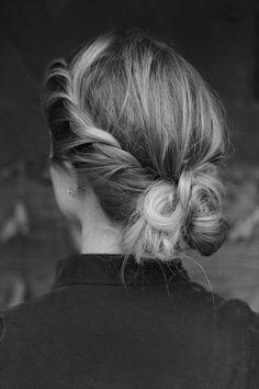 stylish bun