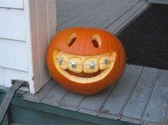 braces, halloween pumpkins, dentists, pumpkin carvings, jack o lanterns