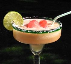 Pink Grapefruit Margarita (4 oz. Tequila 2 oz. Triple Sec 4 oz. Pink Grapefruit Juice 2 oz. Lime Juice 2 Tbs.Simple Syrup)