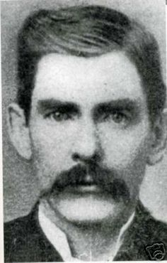 Doc Holliday (1851-1887). American gambler, gunfighter, and dentist of the American Old West who is usually remembered for his friendship with Wyatt Earp and his involvement in the Gunfight at the O.K. Corral.