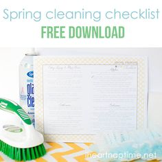 Spring cleaning printable checklist -click image for free download