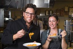 Chef Scott Conant's Tips for Making Great Spaghetti - Chef Scott Conant and Las Vegas Weekly Editor Sarah Feldberg make spaghetti at Scarpetta at The Cosmopolitan of Las Vegas on Wednesday, May 22, 2013.