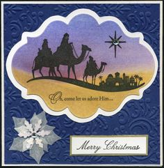 Stampin Up Wise Men christma card, card ideaschristma, su card, christmaswint card