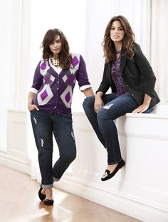 Argyle Chelsea Cardigan and Tailored Stretch Fitted Jacket. A sophisticated answer to keeping out the elements. #LaneBryant