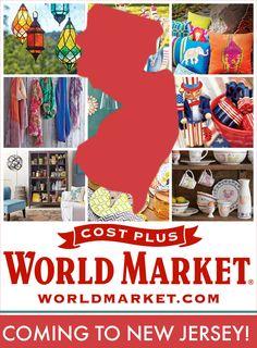Cost Plus World Market Opens Its First North East Store In NJ!  #WorldMarket_NJ