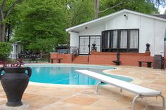 Elvis Presley's Swimming Pool At the Graceland Mansion in Memphis, Tennessee