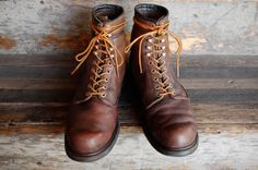 beat up red wings fashion, beat, leather boots, comfort shoe, red wing, men style, style pinboard, men shoe