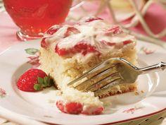 Strawberry-Sour Cream Cake