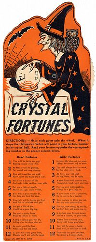 1940 Crystal Fortunes Halloween Game
