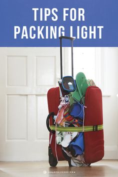 Are you an over-packer? I sure am! Here are some tips to packing lighter so you have room to bring back souvenirs!