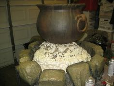 DAVE LOWE DESIGN the Blog: 61 Days 'Til Halloween: Making the Cauldron Pyre - Part Two