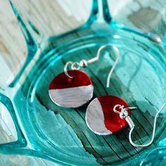 DIY Christmas Color Block Earrings