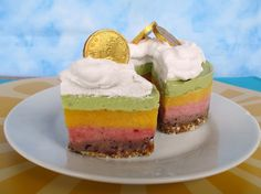 """Vanilla & Spice: Raw Rainbow """"Ice Cream"""" Cake with Coconut Whipped Cream for St. Patrick's Day coconut whip, coconuts, whip cream, spice, rainbows, ice cream cakes, rainbow ice, raw rainbow, whipped cream"""