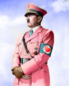hitler, funny pics, animal humor, funny pictures, funny images, funny quotes, pink, funny photos, clothing stores