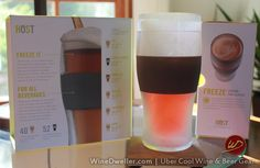 Freeze Cooling Pint Glasses are the bomb! Set of 2 FROSTY pints included. Stellar gift idea!