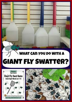 Super fun activity for learning and practicing sight words!  220 Dolch sight words printed on flies.