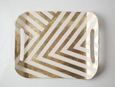 gold zig zag tray!