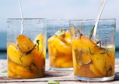 Peaches in Lillet