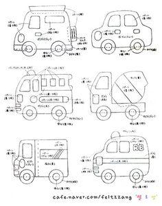Felt vehicle templates