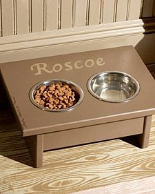 Andy wants to do this: A WAY cheaper way to make an elevated dog food station...and you can personalize it for your pup.