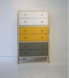 dresser with great paint idea