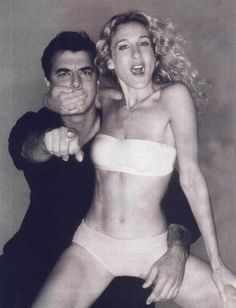 Carrie and Mr. Big. <3